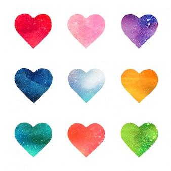 Aquarel harten collectie