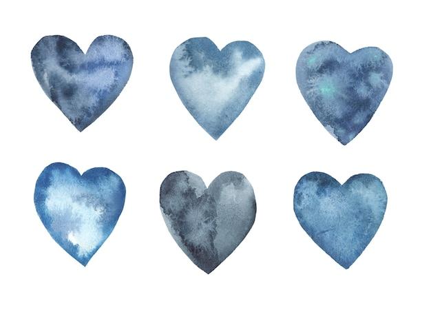 Aquarel harten collectie.