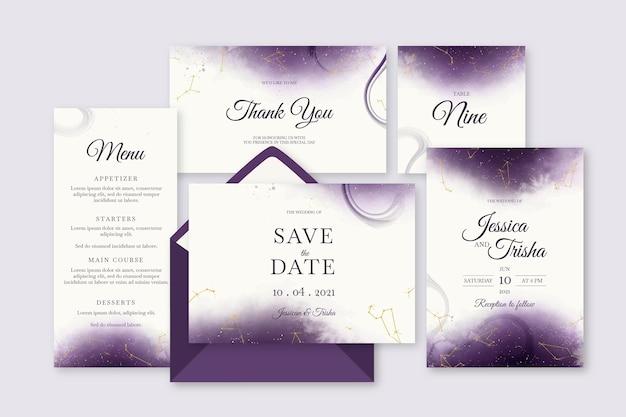 Aquarel hemelse bruiloft briefpapier