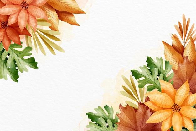 Aquarel herfst behang met lege ruimte