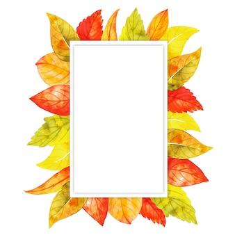 Aquarel herfst bladeren frame