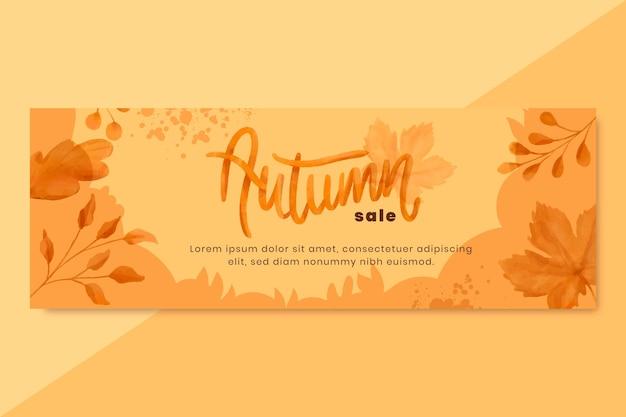 Aquarel herfst horizontale banner tenokate