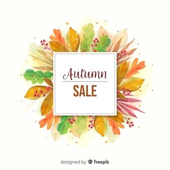 Aquarel herfst verkoop banner