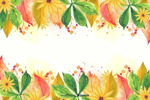Aquarel herfstbladeren achtergrond