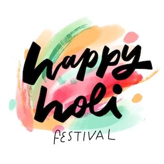 Aquarel holi festival evenement