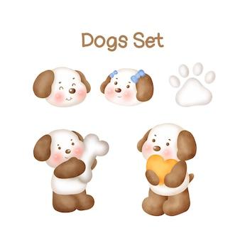 Aquarel honden set
