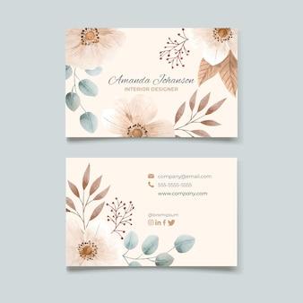 Aquarel horizontale visitekaartjes
