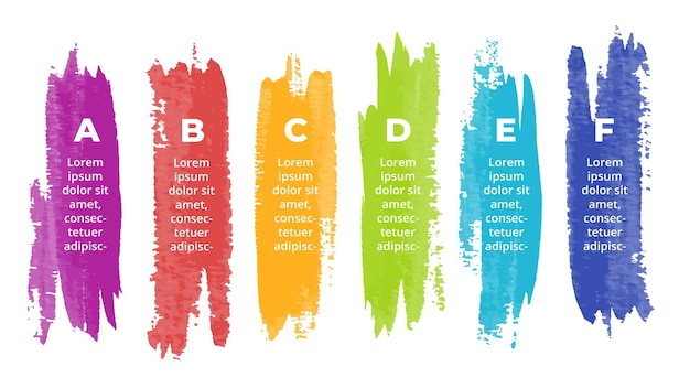 Aquarel infographic presentatie dia sjabloon penseelstreken banner creatief kunstconcept