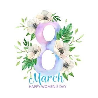 Aquarel internationale vrouwendag