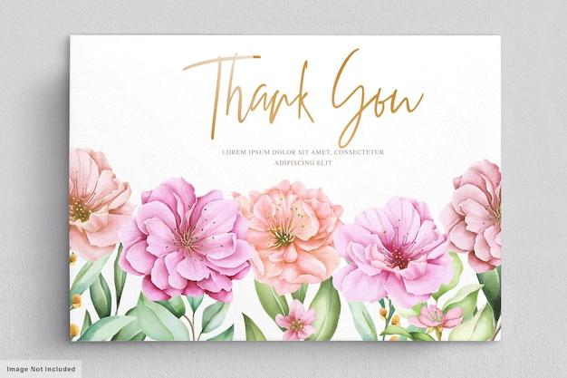 Aquarel kersenbloesem uitnodiging kaartenset