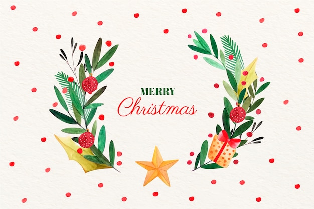 Aquarel kerst achtergrond concept