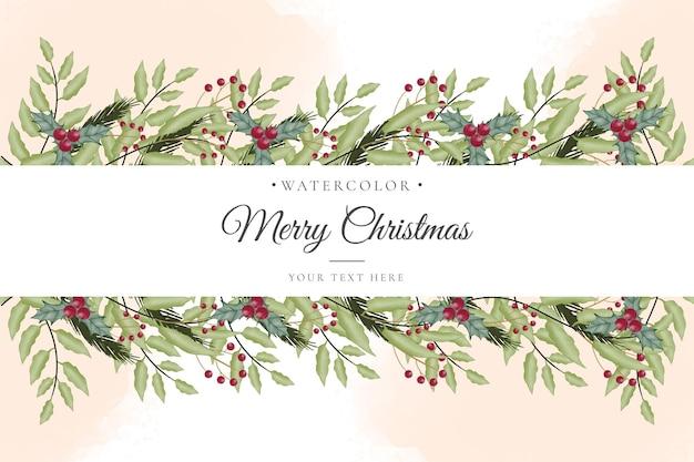 Aquarel kerst achtergrond met ornamenten