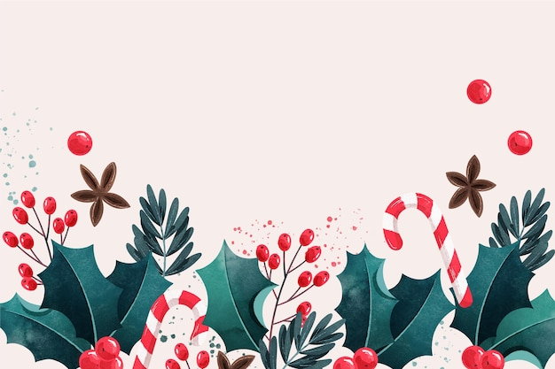 Aquarel kerst achtergrond