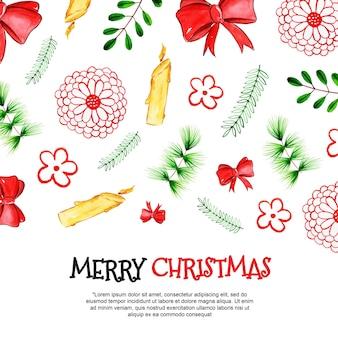 Aquarel kerst achtergronden