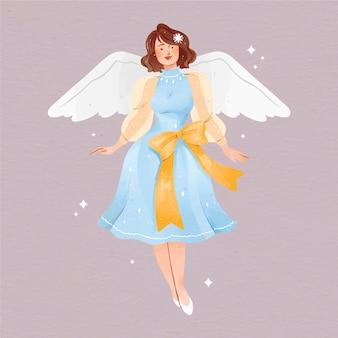 Aquarel kerst engel