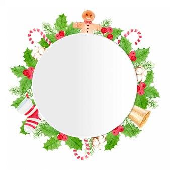 Aquarel kerst frame