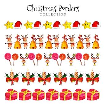 Aquarel kerst grenzen collectie
