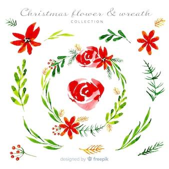 Aquarel kerst krans collectie