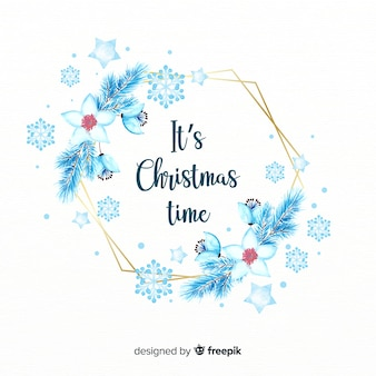 Aquarel kerst krans