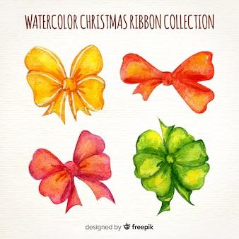 Aquarel kerst linten collectie