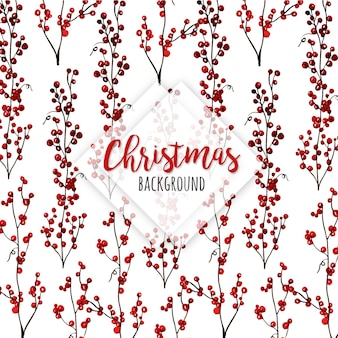 Aquarel kerst patronen achtergrond