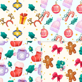 Aquarel kerst patroon