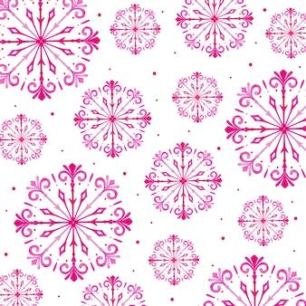Aquarel kerst sneeuwvlokken achtergrond