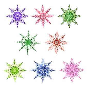 Aquarel kerst sneeuwvlokken collectie