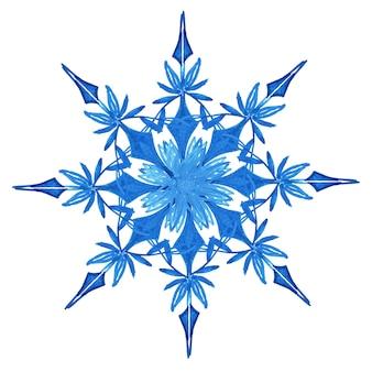 Aquarel kerst sneeuwvlokken