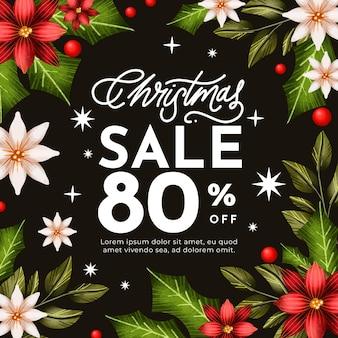 Aquarel kerst verkoop concept