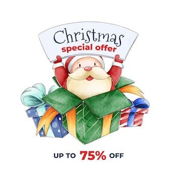 Aquarel kerst verkoop