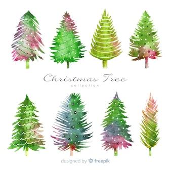 Aquarel kerstboom collectie