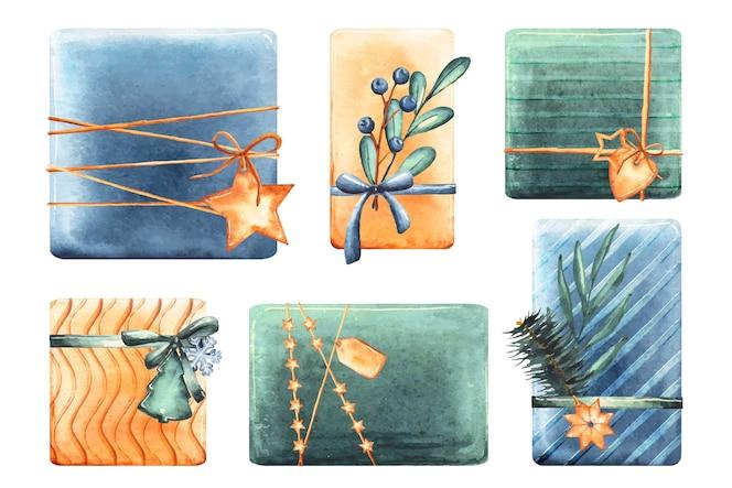Aquarel kerstcadeau collectie