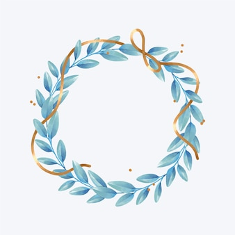 Aquarel kerstkrans