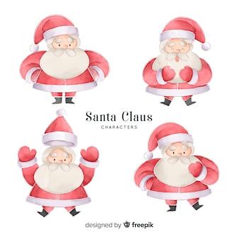 Aquarel kerstman tekenset