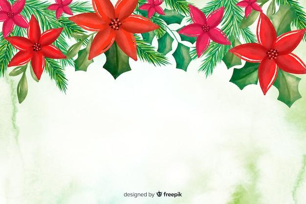 Aquarel kerstmis achtergrond met kopie ruimte