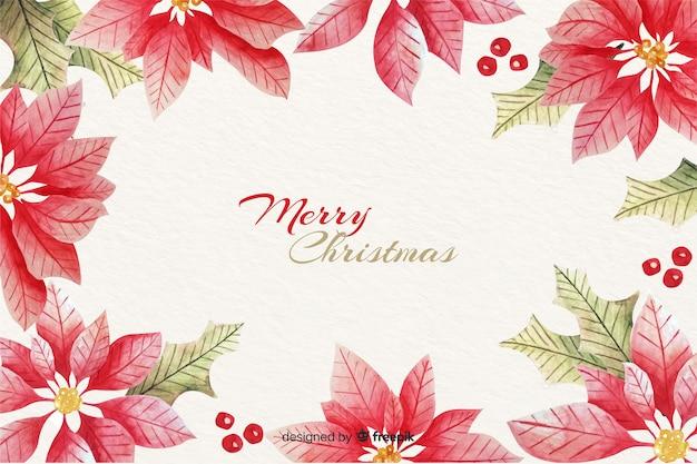 Aquarel kerstmis frame achtergrond