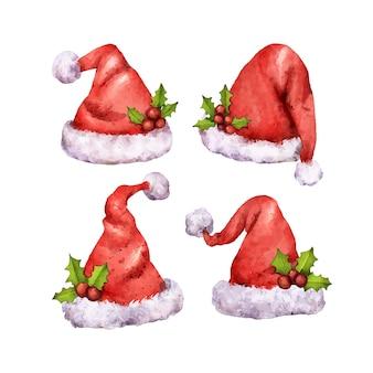 Aquarel kerstmuts collectie