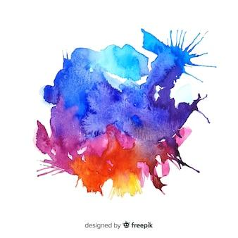 Aquarel kleurrijke splash achtergrond