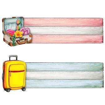 Aquarel koffer