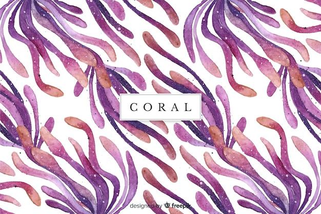Aquarel koraal achtergrond