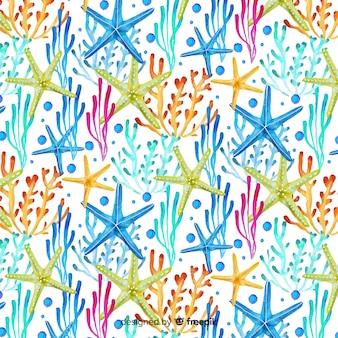 Aquarel koraal patroon