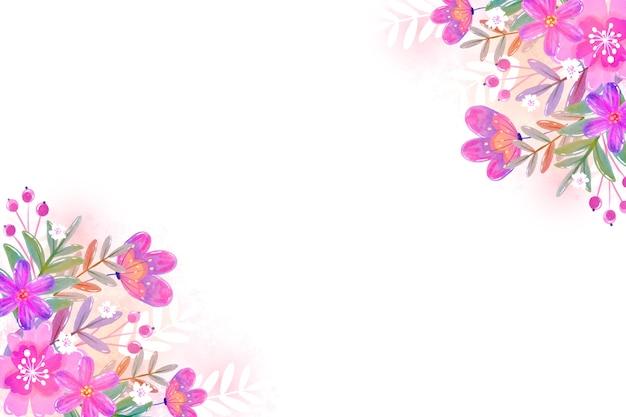 Aquarel lente achtergrond