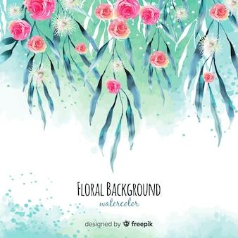 Aquarel lente bloemen achtergrond