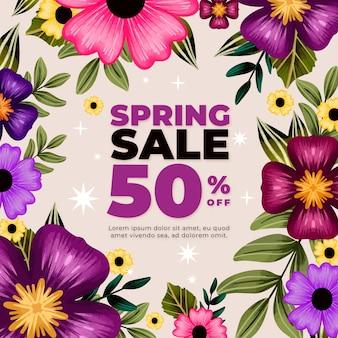 Aquarel lente verkoop illustratie