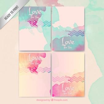 Aquarel liefde briefpapier
