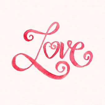 Aquarel liefdesbelettering