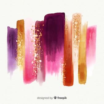 Aquarel lijn met glitter