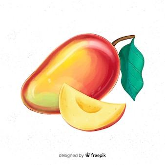 Aquarel mango illustratie