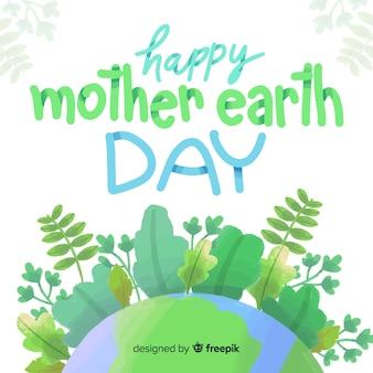 Aquarel moeder aarde dag achtergrond